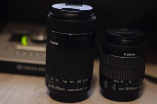 Lente Canon Efs 18-55 Y Canon 55-250 Mm