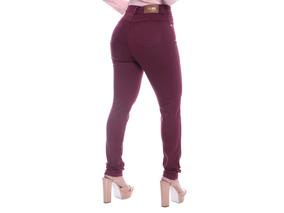 Calça Jeans Cintura Alta Hot Pant Disco Pant Levanta Bumbum