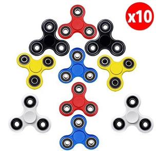 Pack 10 Fidget Spinner Relax Juguete Colores / Ekipofertas