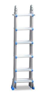 Escalera Aluminio Pie De Gigante 6,22m Kulbart 4x6