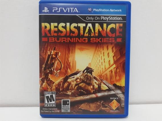 Resistance Burning Skies Jogo Psvita Original Mídia Física