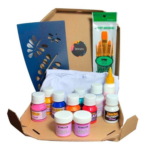 Pack/kit Pintura Para Tela Incluye Camiseta Algodón