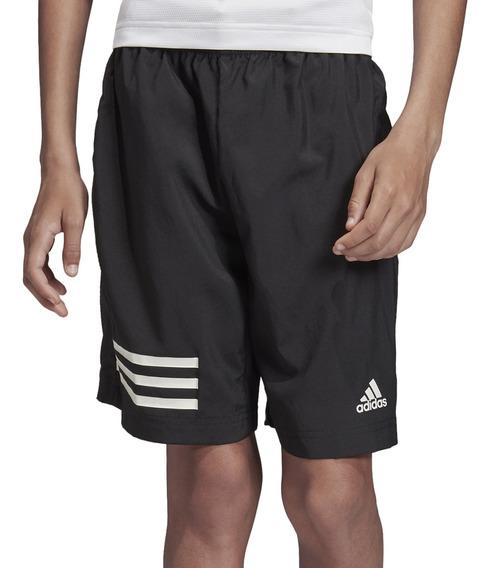 Short adidas Training Yb 3 Stripes Niño Ng/bl