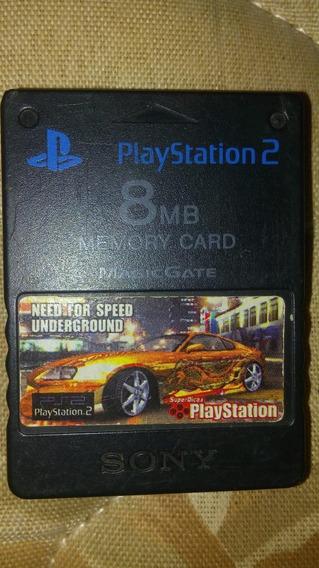 Memory Card Ps2 Original Japonês 8mp +capa