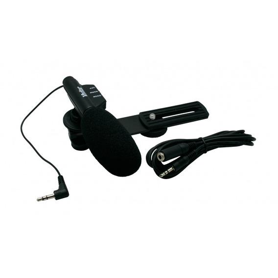 Microfone Mini Zoom Para Filmadora Vivitar Vivmic403