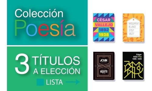 Pack 3 Libros Colección Poesía - Antología - Batiscafo