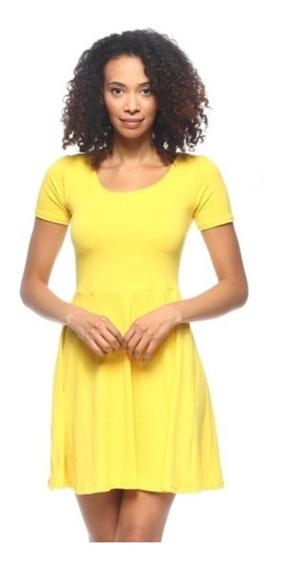 Vestido Juvenil Corto Sexy Elegante Amarillo