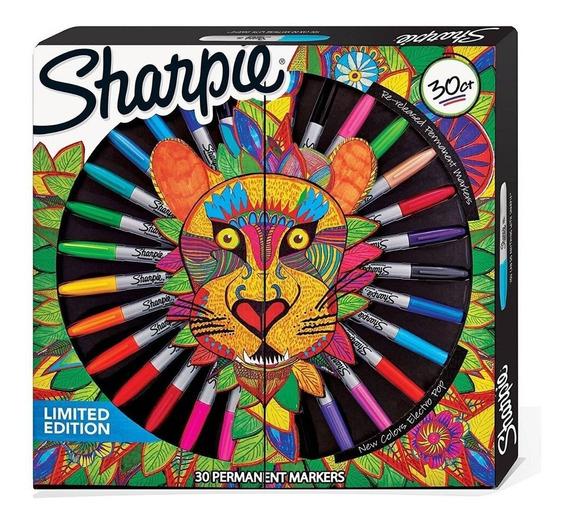 Marcadores Sharpie X28 Ruleta Leon + 5 Laminas One Art