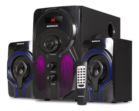 Caixa De Som 2.1 Home Theater 50w Bluetooth Mp3 Fm Sistema Som Subwoofer Tv Pc