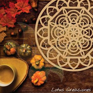 Platos De Sitio - Estilo Mandala -corte Láser-venta Directa
