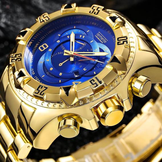 Relógio Temeite Dourado Masc Luxuoso_ Frete Grátis