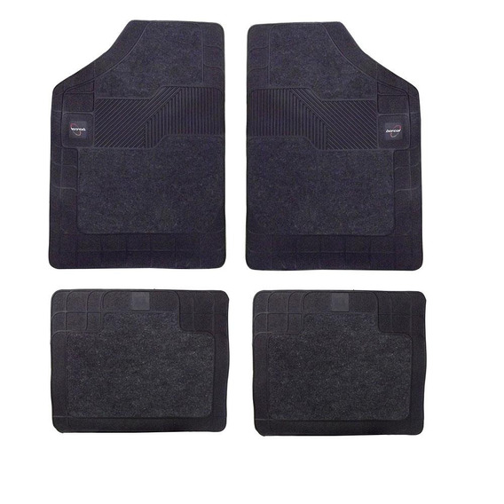 Tapete Carpete+borracha-borcol-torino 4 Pç-grafite-03718731.