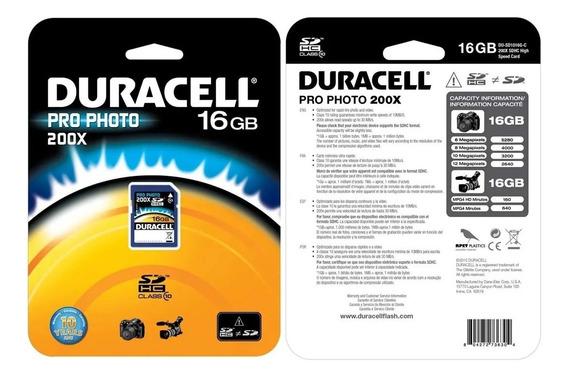 Cartão De Memória Sdhc Pro Photo 200x 16gb - Duracell
