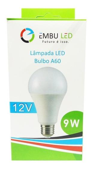 Kit 3 Lâmpadas Led Bulbo Eco 9w 12 Volts 12v Energia Solar