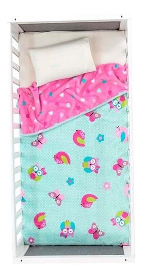 Cobertor Para Bebé Nórdico Carriola 2 Vistas Cloy Rosa Vian
