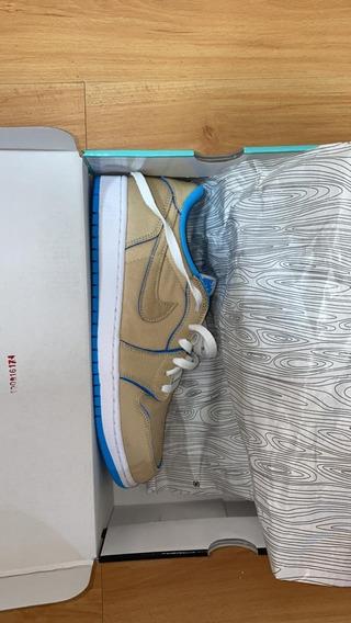 Nike Sb Air Jordan 1 Low Qs 9.5 Desert Ore Originales 100%