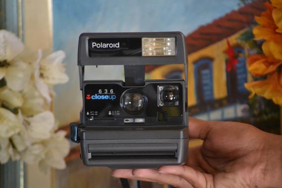 Câmera Antiga Polaroid Mod. 636 Closeup C/caixa Estado Zero Ano 1970