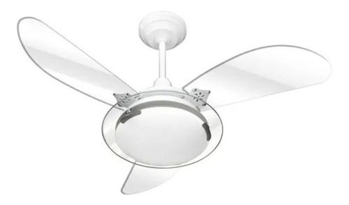 Ventilador Teto Residence Branco Transparente 130w A040 127v