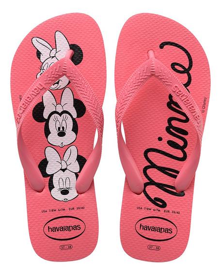 Chinelo Havaianas Infantil Top Disney Rosa Minnie