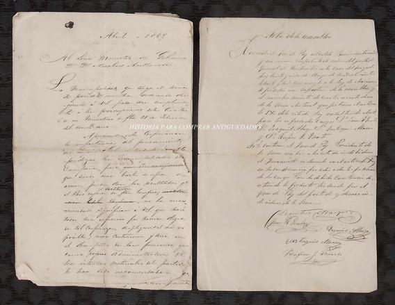 Documento Antiguo 1867 Pdo. San Martin Marquez Ferrocarril O
