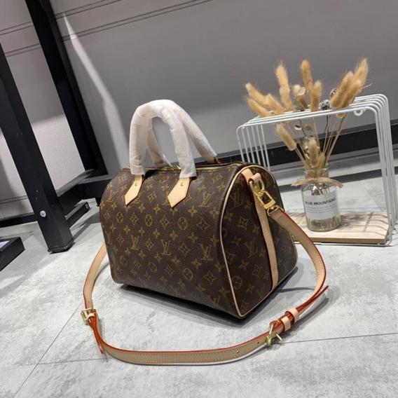 Bolsa Louis Vuitton Speedy Média Em Couro Canvas Monograma