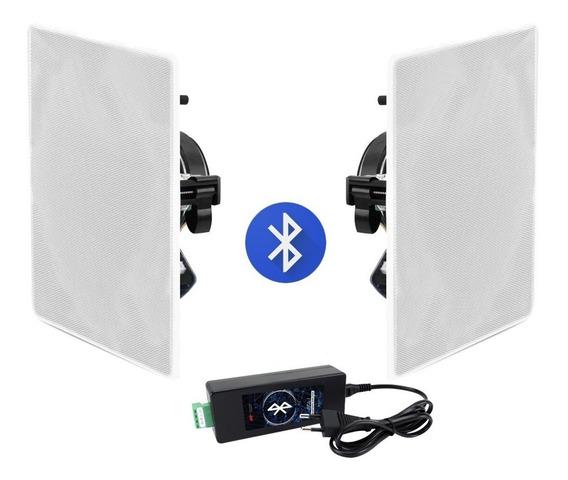Kit Amplificador Bluetooth Aat 40w + 2 Caixas Aat Nq6-100