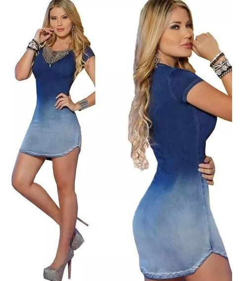 Vestido Jeans Degrade Bom Comprimento !!!!