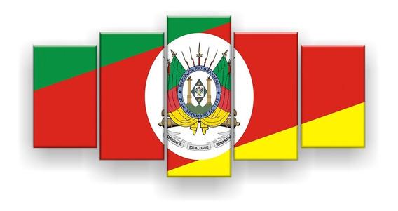 Quadro Decorativo Bandeira Do Rio Grande Do Sul 129x61