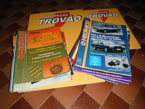 Revista O Mecânico Desde 1985-6 Exemplares Sortidos Usado