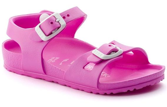 Birkenstock Sandália Rio Kids Eva Narrow Pink 12x Sem Juros