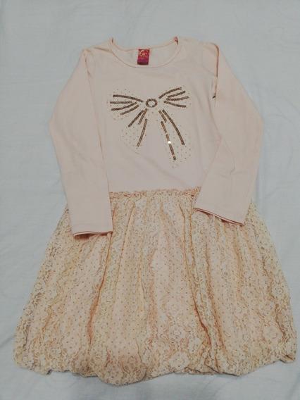 Vestido Importado Manga Larga Talle 8 Años