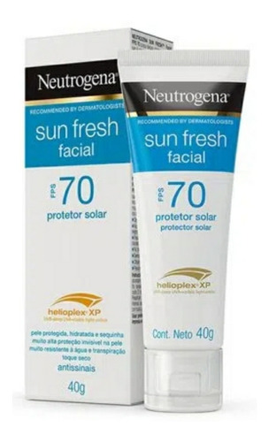 Protetor Solar Neutrogena Sun Fresh Facial Fps70 40 Gramas