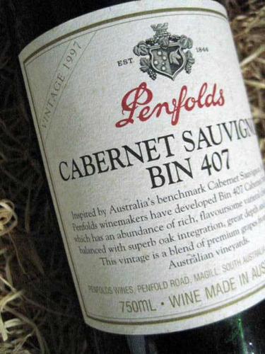 Vino Penfolds Bin 407 1997 Cabernet Sauvignon Australia