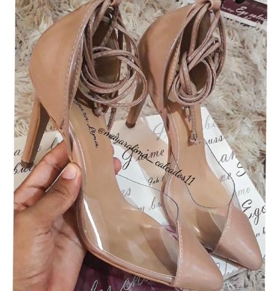 Sapato Transferência Vinil Salto 10cm