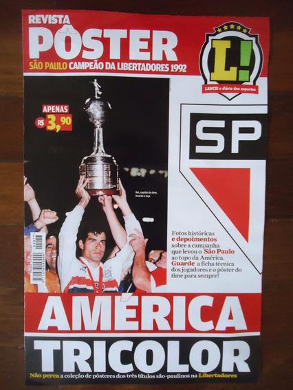 São Paulo Libertadores 1992 Revista Poster Lance