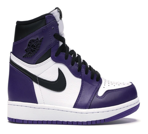 Tênis Masculino Nike Air Jordan 1 High Court Purple Original