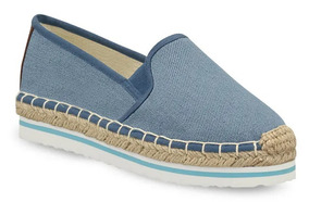 Flat Loafer Mujer Azul Azul 2547664 Confort