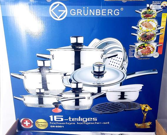 Batería Grünberg 16 Pzs. Acero Quirurgico T-304 De 9 Capas