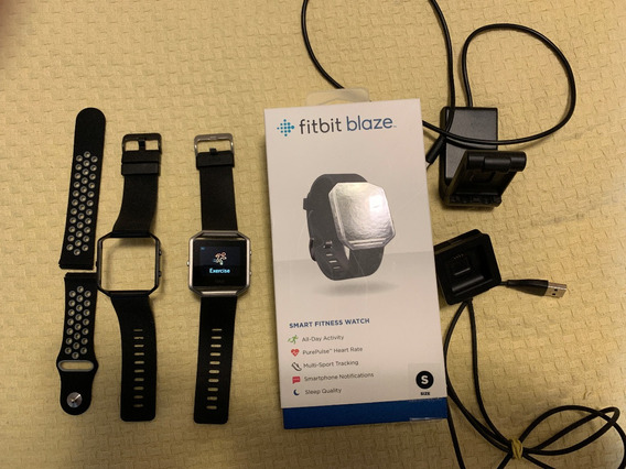 Fitbit Blaze Com Duas Pulseiras E Dois Carregadores Fotos
