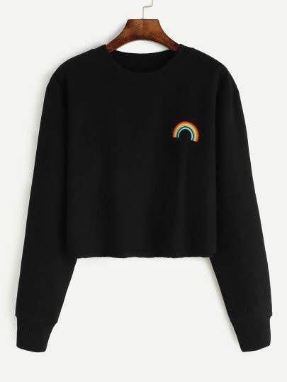 Sudadera Mujer Crop Arcoiris Rainbow Tumblr Moda Regalo