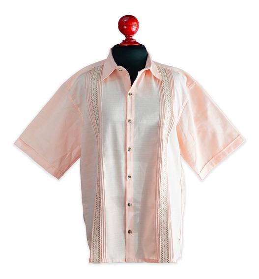 Adarid Estrada Camisa Guayabera Para Hombre Color Coral