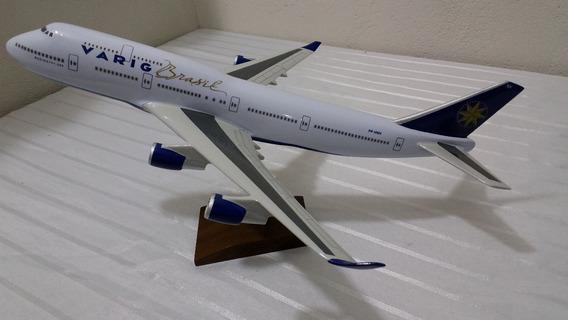 Miniatura De Avião B-747 Varig