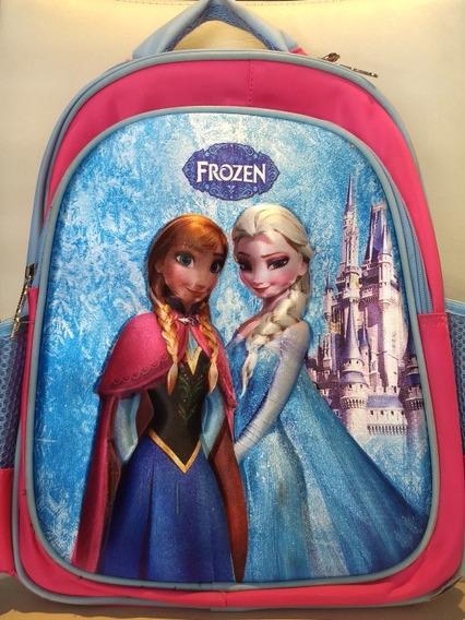 Mochila Escolar Frozen En Relieve