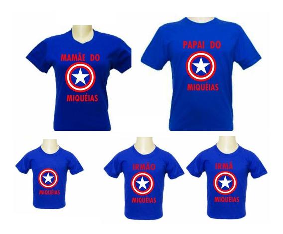 5 Camisas Capitão América Personalizada Para Aniversario