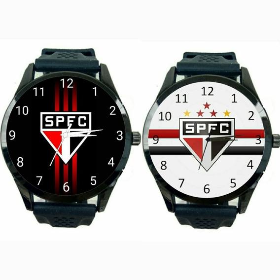 Kit 2 Relógios São Paulo Unissex Novo Esporte Futebol T166