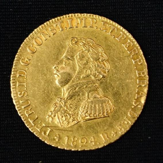 1 Rara Moeda 4.000 Réis 1.814 Ou 1.824 - Réplica B Ouro