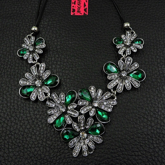 Collar Flor Betsey-johnson- Envio Gratis Color Esmeralda
