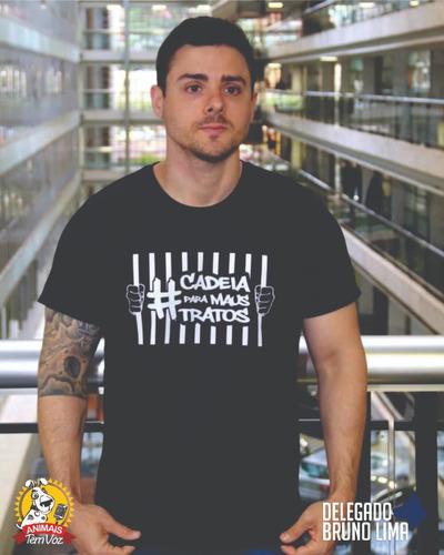 Kit 01 - Camiseta + Adesivo #cadeiaparamaustratos