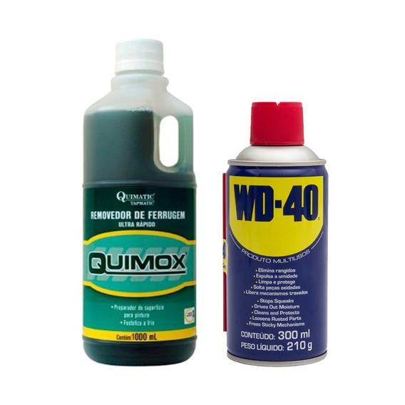 Kit Quimox 1 Litro E Lubrificante Multiusos Wd-40 300ml