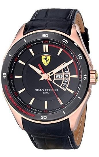 Relógio Ferrari Gran Premio Display Quartz Black Watch